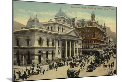 Postcard Depicting the Standard Bank on Adderley Street--Mounted Photographic Print
