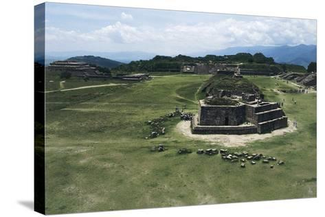 Astronomical Observatory or Building J, Archaeological Site of Monte Alban--Stretched Canvas Print