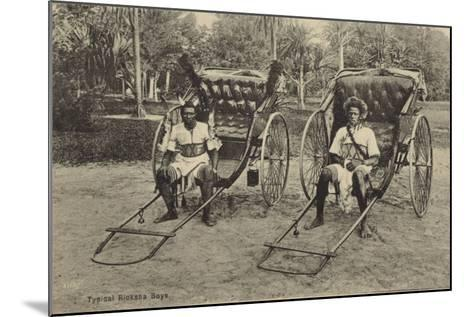 Postcard Depicting Typical South African Ricksha Boys--Mounted Photographic Print