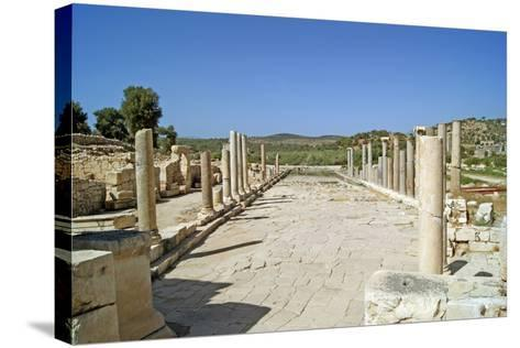 View of the Partially Restored Main Street of Patara, Turkey--Stretched Canvas Print