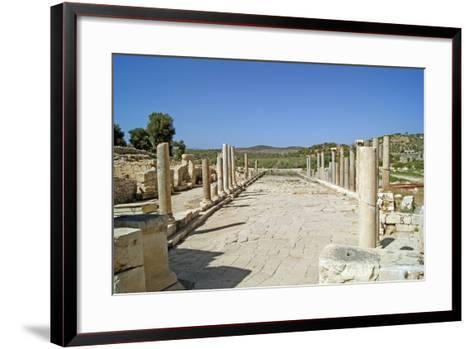 View of the Partially Restored Main Street of Patara, Turkey--Framed Art Print