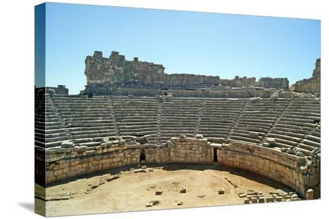 View of the Xanthos Theatre from the Top Seating Tier, Xanthos, Turkey--Stretched Canvas Print