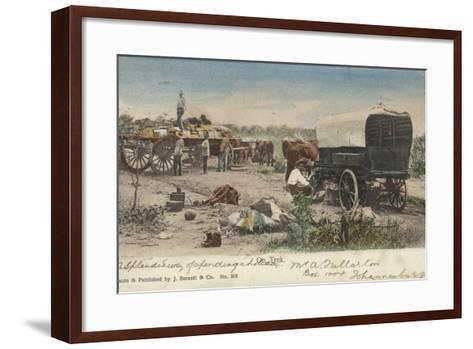 Postcard Depicting a Group of People on Trek in South Africa--Framed Art Print