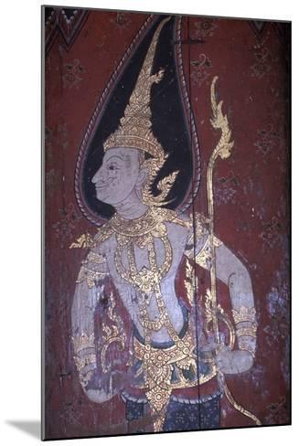 Mural Painting in Wat Suwan Dararam Temple in Ayutthaya--Mounted Photographic Print