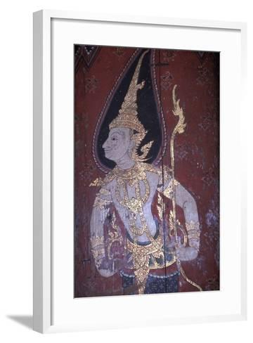 Mural Painting in Wat Suwan Dararam Temple in Ayutthaya--Framed Art Print