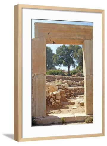 View Through the Northern Gate of the Agora, Patara, Turkey--Framed Art Print