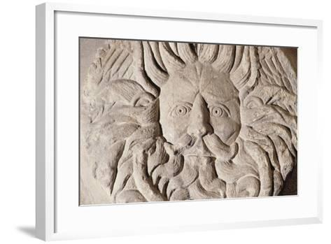 Relief with Gorgon's Head, Temple of Sulis Minerva, Roman Baths--Framed Art Print