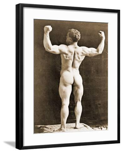 Eugen Sandow, in Classical Ancient Greco-Roman Pose, C.1897--Framed Art Print