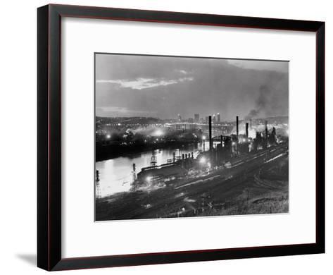 Jones and Laughlin Steel Mill, Pittsburgh, Pennsylvania--Framed Art Print