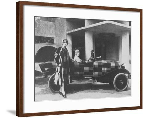 Sonia Delaunay and Her Matching Decorated Citroen B12, 1925--Framed Art Print