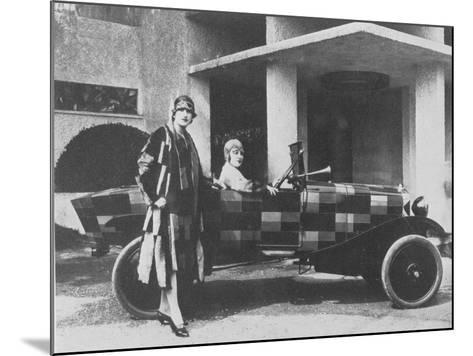 Sonia Delaunay and Her Matching Decorated Citroen B12, 1925--Mounted Photographic Print