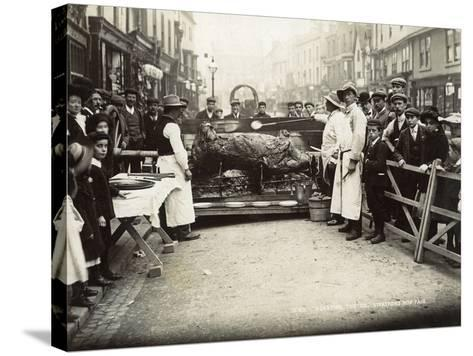 Roasting the Ox', Stratford-Upon-Avon Mop Fair, C.1914--Stretched Canvas Print