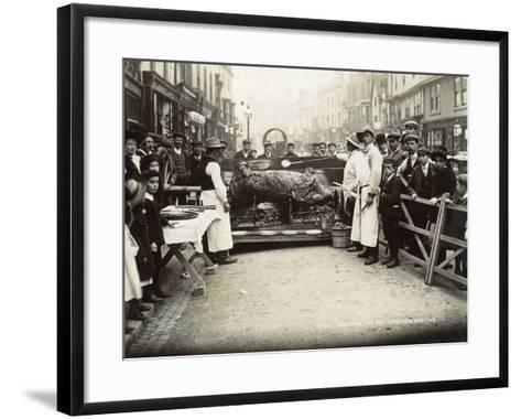 Roasting the Ox', Stratford-Upon-Avon Mop Fair, C.1914--Framed Art Print