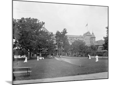 Manhasset, Tennis at Manhanset House, Shelter Island, N.Y., C.1904--Mounted Photographic Print