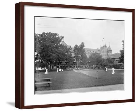 Manhasset, Tennis at Manhanset House, Shelter Island, N.Y., C.1904--Framed Art Print