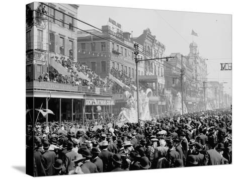 """New Orleans, Louisiana, Mardi Gras Day, the """"Red"""" Pageant, C.1890-1910--Stretched Canvas Print"""