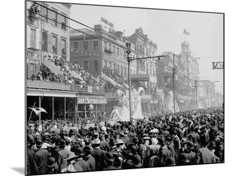 """New Orleans, Louisiana, Mardi Gras Day, the """"Red"""" Pageant, C.1890-1910--Mounted Photographic Print"""