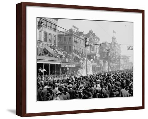 """New Orleans, Louisiana, Mardi Gras Day, the """"Red"""" Pageant, C.1890-1910--Framed Art Print"""