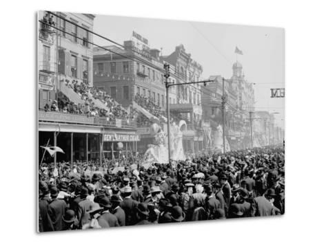 """New Orleans, Louisiana, Mardi Gras Day, the """"Red"""" Pageant, C.1890-1910--Metal Print"""