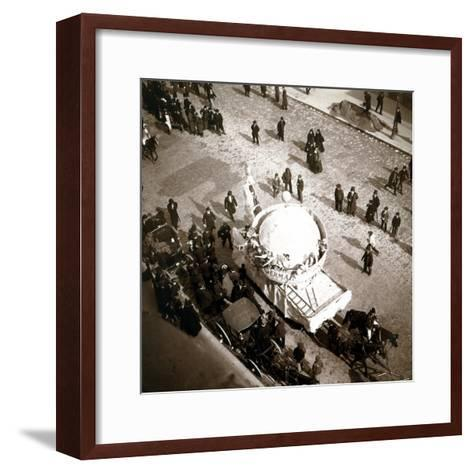 The Arrival of Carriages at the Exposition Universelle, Paris, 1900--Framed Art Print
