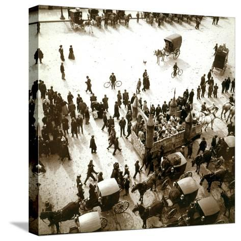 The Arrival of Carriages at the Exposition Universelle, Paris, 1900--Stretched Canvas Print