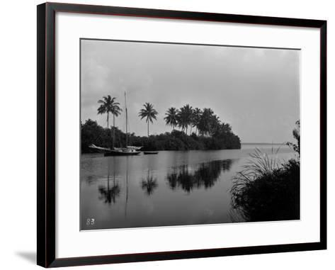 A Pristine View of the Mouth of the Miami River, 1884--Framed Art Print