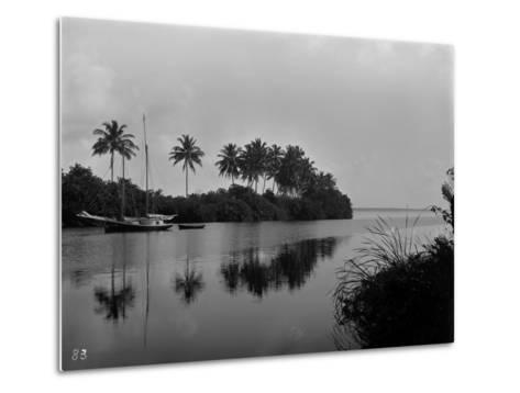 A Pristine View of the Mouth of the Miami River, 1884--Metal Print