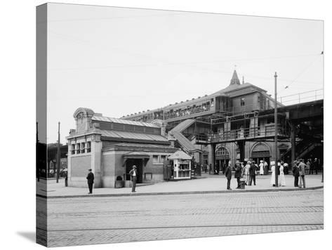 Atlantic Avenue, Subway Entrance, Brooklyn, N.Y., C.1910-20--Stretched Canvas Print