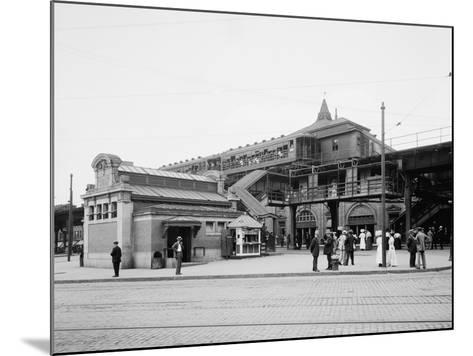Atlantic Avenue, Subway Entrance, Brooklyn, N.Y., C.1910-20--Mounted Photographic Print