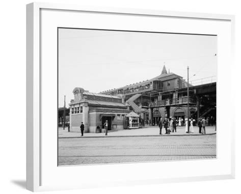 Atlantic Avenue, Subway Entrance, Brooklyn, N.Y., C.1910-20--Framed Art Print
