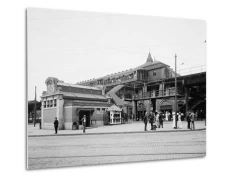 Atlantic Avenue, Subway Entrance, Brooklyn, N.Y., C.1910-20--Metal Print