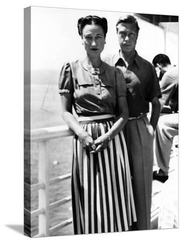 The Duke and Duchess of Windsor on Deck, C.1930-50--Stretched Canvas Print