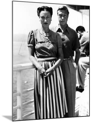 The Duke and Duchess of Windsor on Deck, C.1930-50--Mounted Photographic Print
