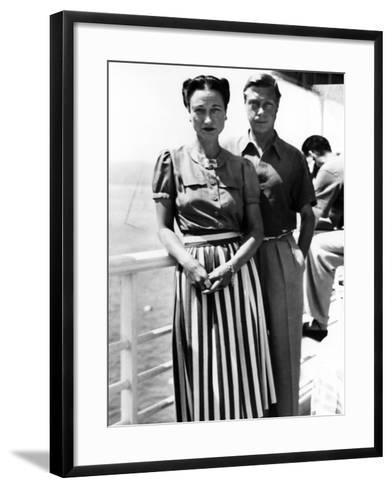 The Duke and Duchess of Windsor on Deck, C.1930-50--Framed Art Print