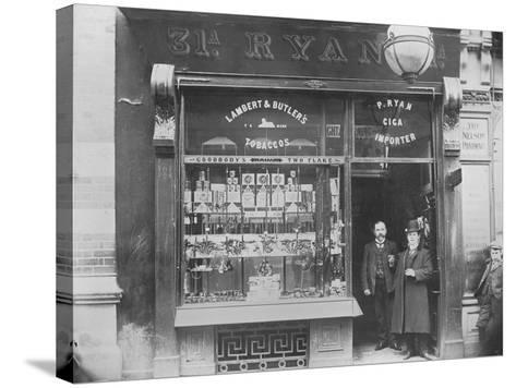 Ryan's Tobacco Shop, Henry Street, Dublin, Ireland, C.1900--Stretched Canvas Print