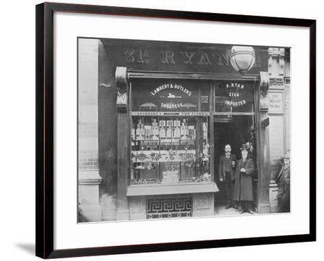 Ryan's Tobacco Shop, Henry Street, Dublin, Ireland, C.1900--Framed Art Print