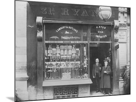 Ryan's Tobacco Shop, Henry Street, Dublin, Ireland, C.1900--Mounted Photographic Print