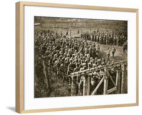 Germans Stranded in France by the Turn of the Tide, 1914-19--Framed Art Print