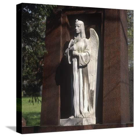Statue of an Archangel from the Grave of the Graf Family--Stretched Canvas Print