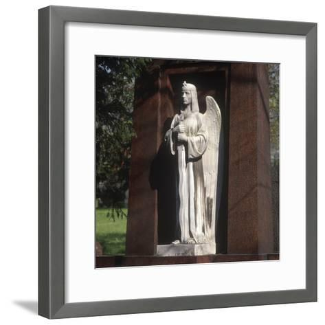 Statue of an Archangel from the Grave of the Graf Family--Framed Art Print