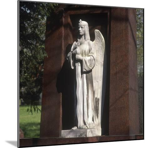 Statue of an Archangel from the Grave of the Graf Family--Mounted Photographic Print