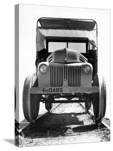 'Twynomatic' Military Rail-Scout Car, Bombay, India, C.1920-51--Stretched Canvas Print