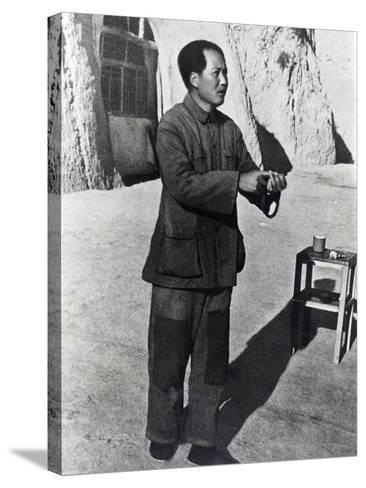 Mao Tse-Tung in His Mountain Stronghold, Yenan, 1942--Stretched Canvas Print