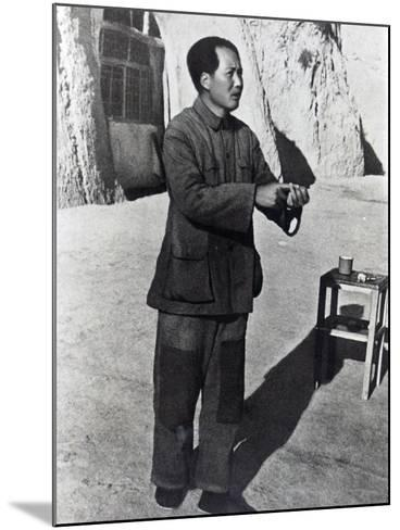 Mao Tse-Tung in His Mountain Stronghold, Yenan, 1942--Mounted Photographic Print