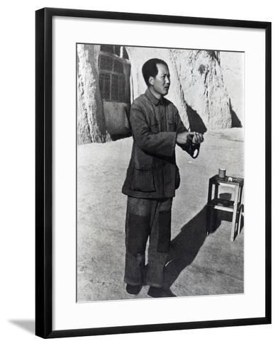 Mao Tse-Tung in His Mountain Stronghold, Yenan, 1942--Framed Art Print