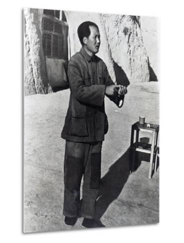 Mao Tse-Tung in His Mountain Stronghold, Yenan, 1942--Metal Print