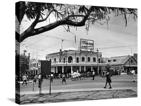 Kingston Commercial District at South Parade, Jamaica, C.1950--Stretched Canvas Print
