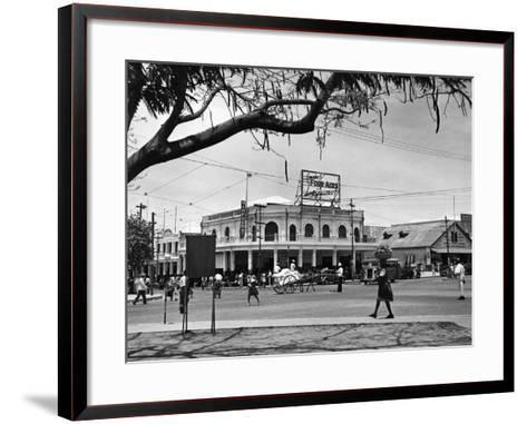Kingston Commercial District at South Parade, Jamaica, C.1950--Framed Art Print