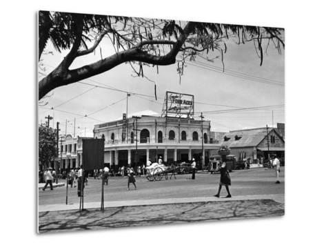 Kingston Commercial District at South Parade, Jamaica, C.1950--Metal Print