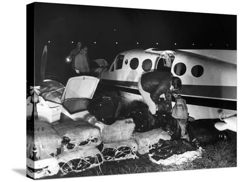 Bales of Marijuana Spill Out from a Crashed Cessna Plane, 1978--Stretched Canvas Print